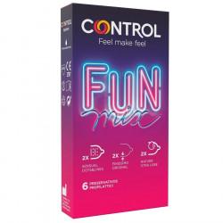 Control Fun Mix Preservativi Sottili, Ritardanti e Stimolanti, Classici